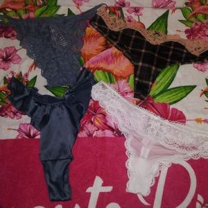 4 NEW VS MEDIUM PANTIES THESE COST $14.50 AND UP